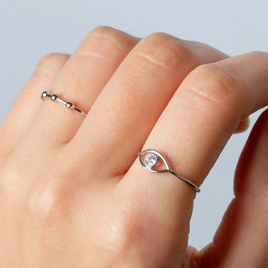 Beads Silver Ring