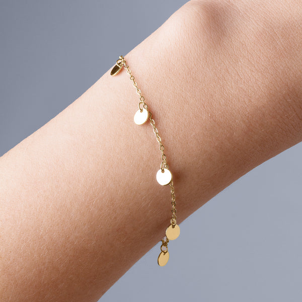 Disc Charms Gold Bracelet