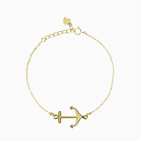 Anchor Gold Bracelet