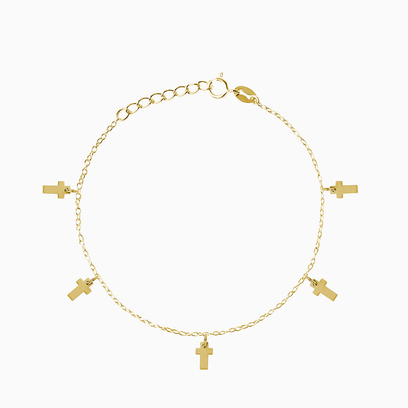Cross Gold Bracelet