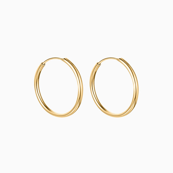 Thin Hoop Earrings Gold