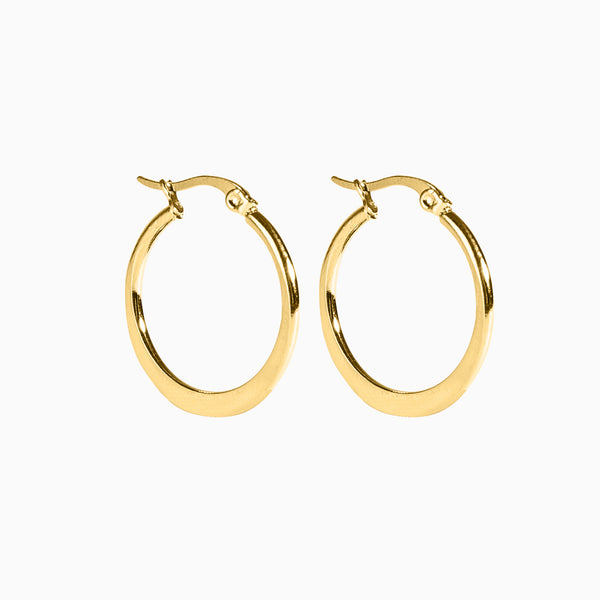 Medium Hoop Earrings Gold