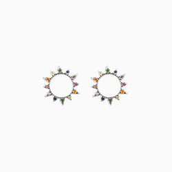 Soleil Zirconias Silver Earrings