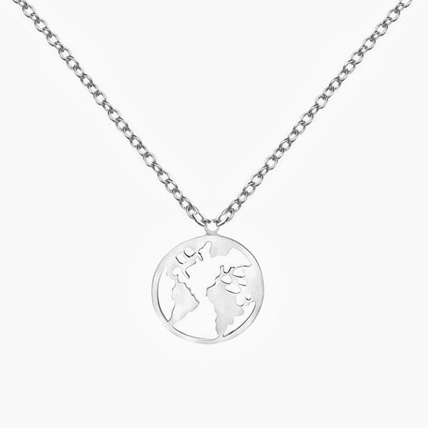 World Silver Pendant