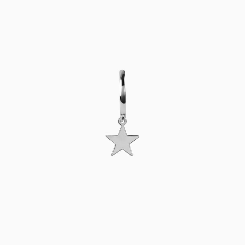 Star Silver Ring Piercing