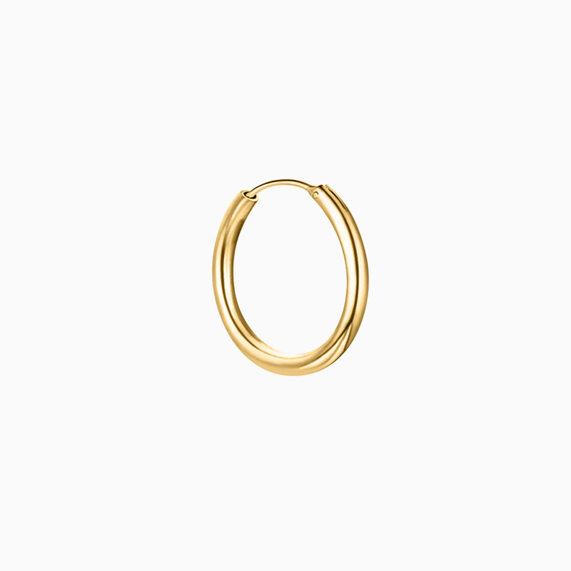 Thin Hoop Piercing Gold