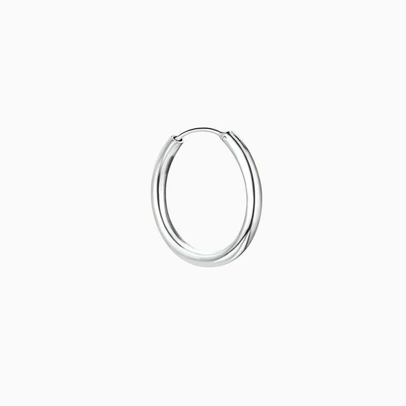 Little Hoop Silver Thin Earring