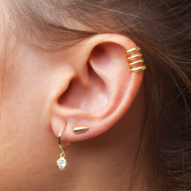 Mini Tear Gold Piercing