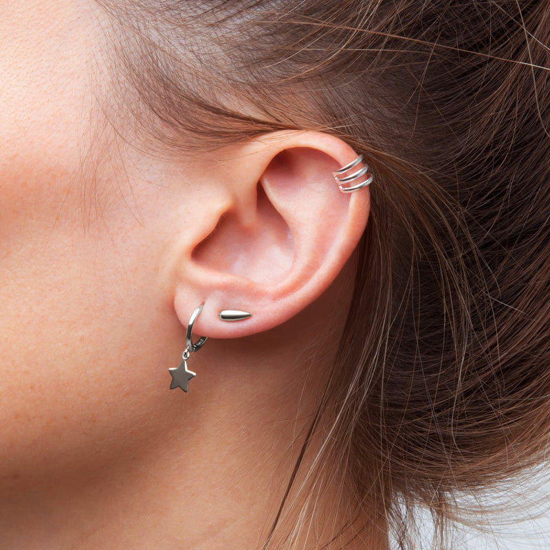 Mini Tear Silver Piercing