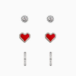 Red Love Earring Set