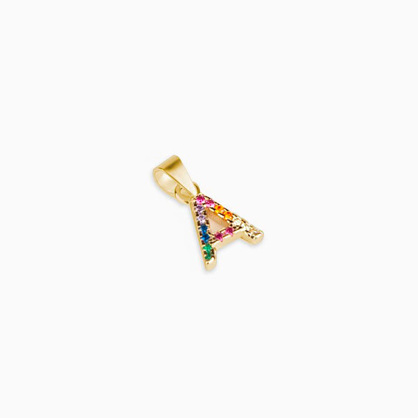 Initial Customizable Zirconia Gold Multicolor