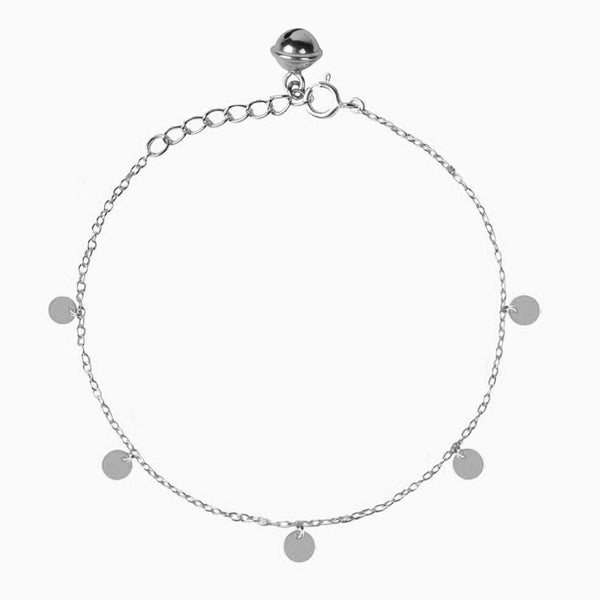Coins Silver Anklet