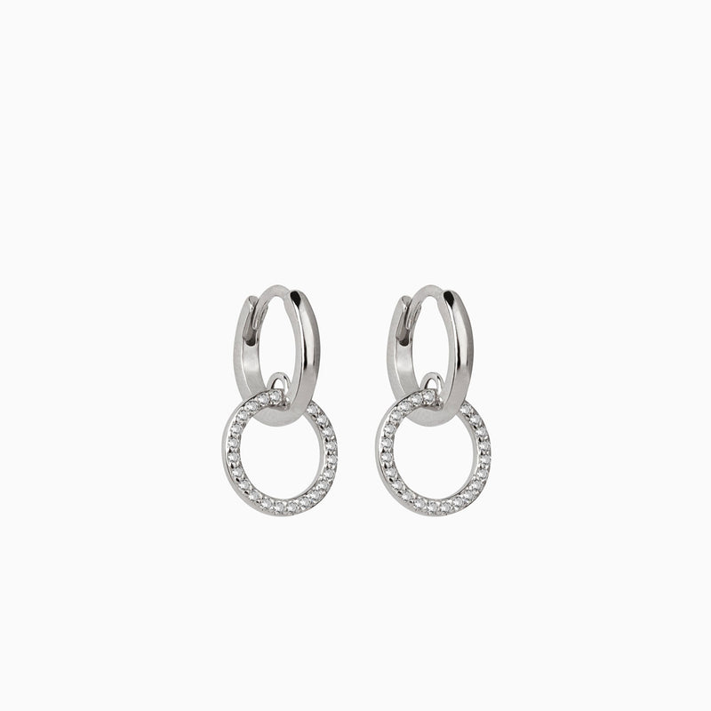 Alleanza Hoop Earrings Silver