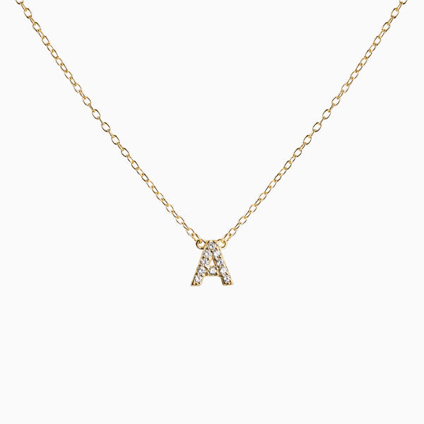 Necklace Fixed Initial Zirconia Gold