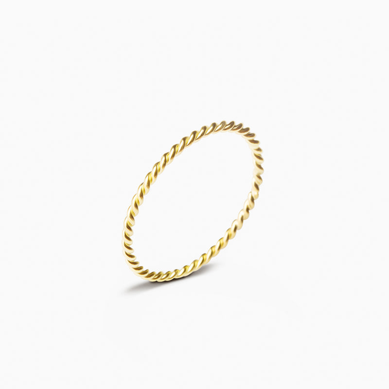 Curly Gold Ring