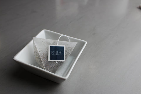 Rishi Sachet tea bags are free from plastic