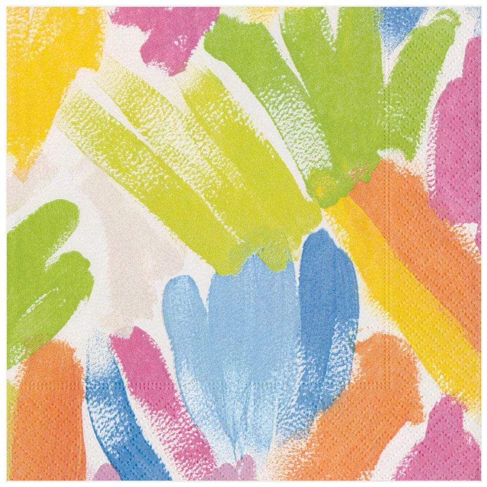Caspari Brushstroke Paper Dinner Napkins - 20 Per Package