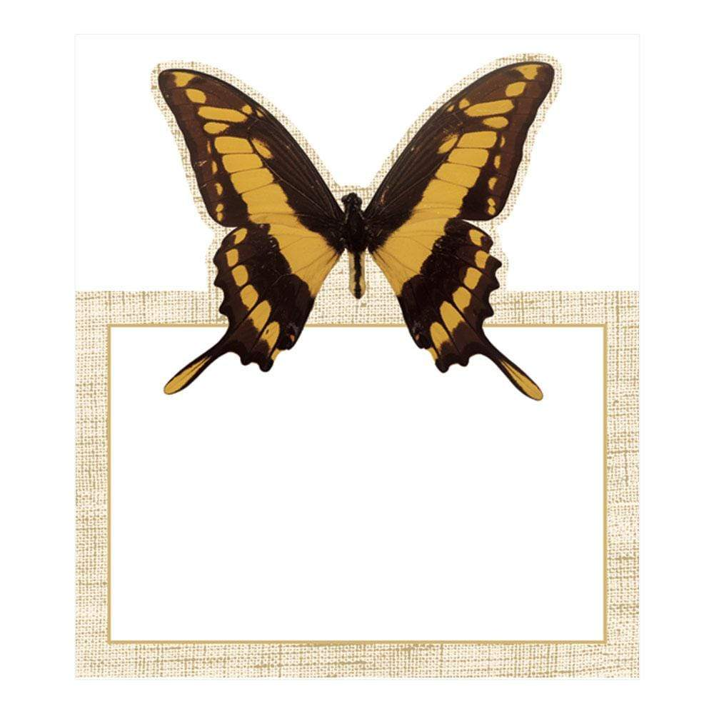 Caspari Deyrolle Butterflies Die-Cut Place Cards - 8 Per Package