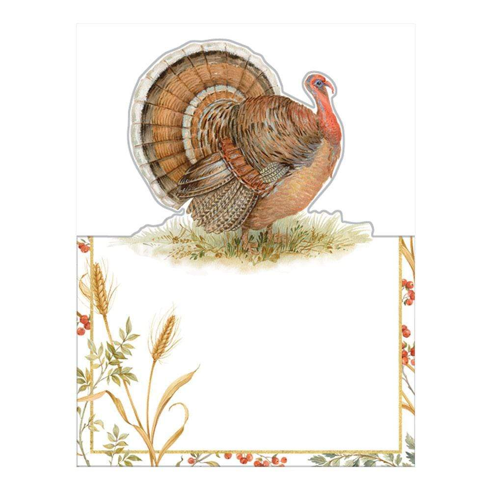 Caspari Golden Harvest Die-Cut Place Cards - 8 Per Package