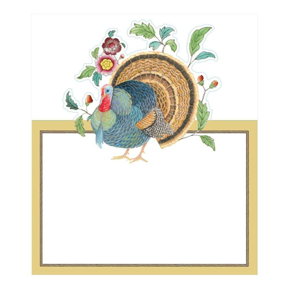 Caspari Thanksgiving Setting Die-Cut Place Cards - 8 Per Package