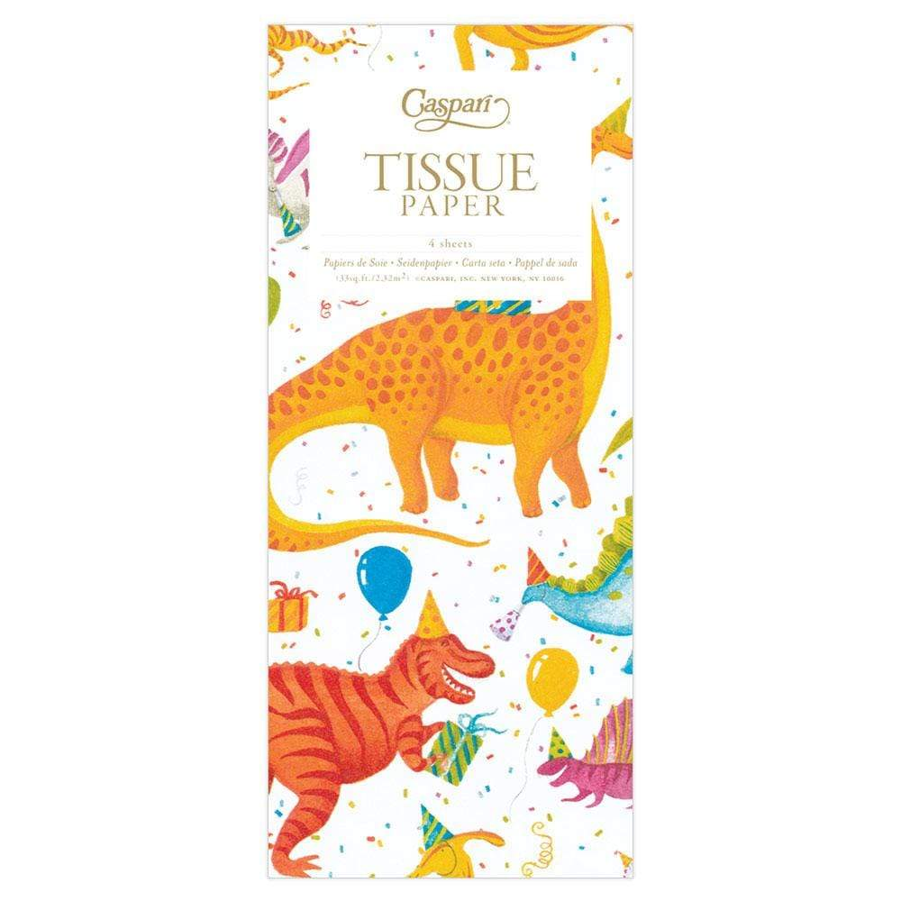 Caspari Partysaurus Tissue Paper - 4 Sheets Included