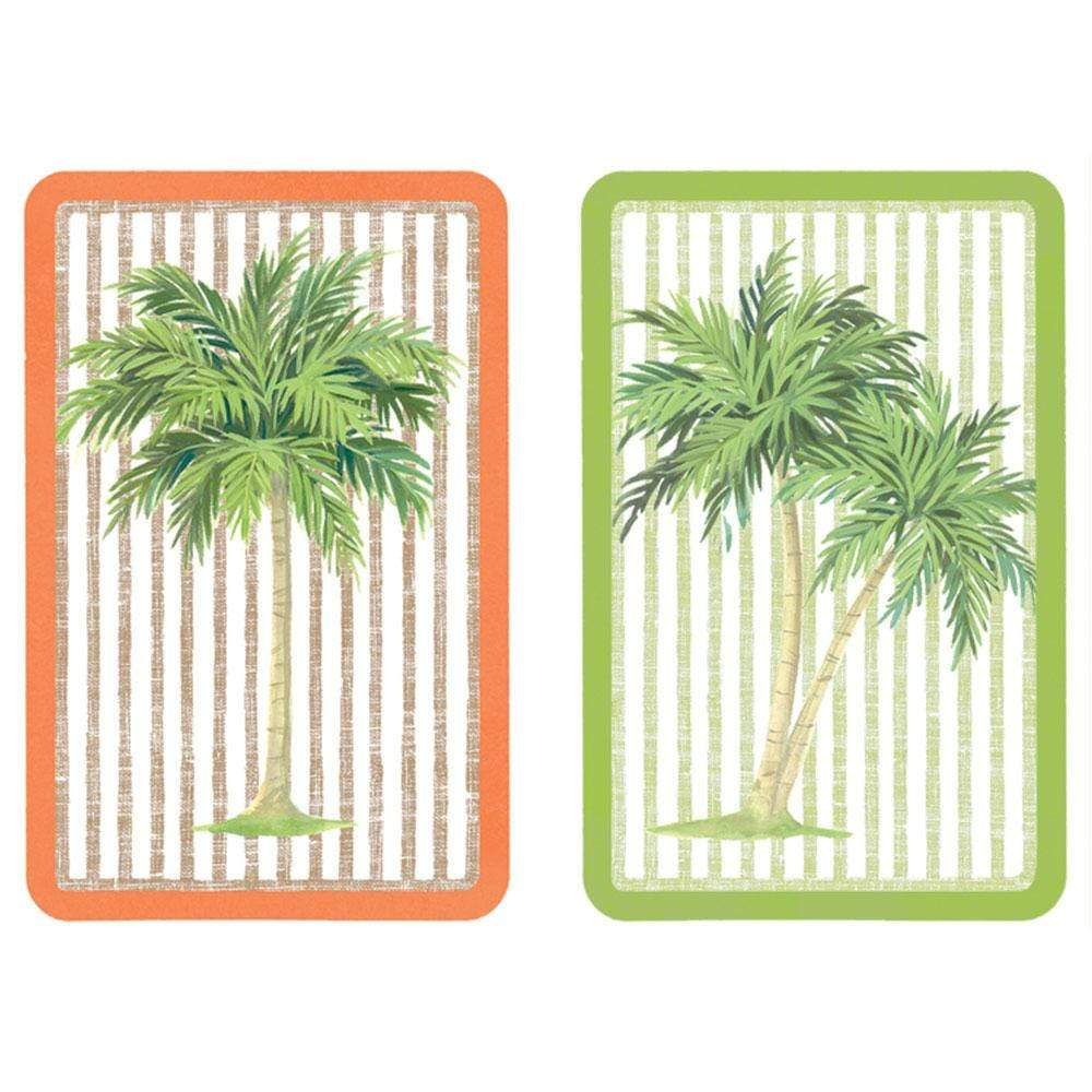 Caspari Palms Playing Cards - 2 Decks Included
