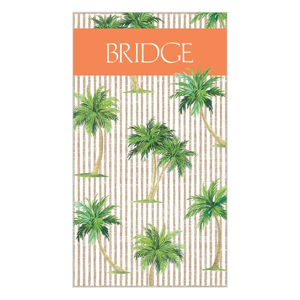 Caspari Palms Bridge Score Pad - 1 Each