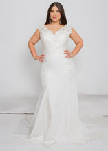 Load image into Gallery viewer, harper v neck top harper skirt wedding dress
