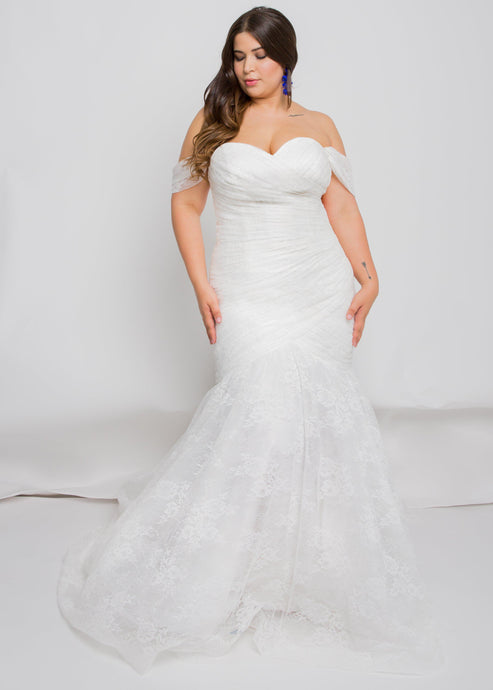 blaire top blaire skirt sweetheart lace wedding dress