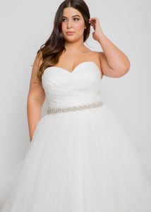 blaire top matson skirt lace sweetheart wedding dress