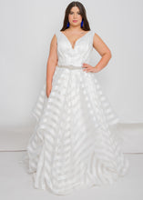 Load image into Gallery viewer, mia v-neck top mia skirt organza wedding dress