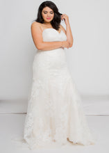 Load image into Gallery viewer, everly sweetheart top everly skirt lace trumpet wedding dress