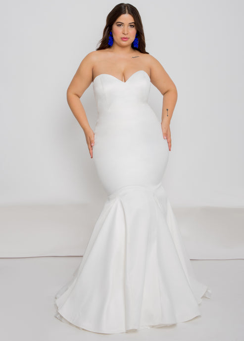 farai top aria skirt strapless satin sweetheart wedding dress