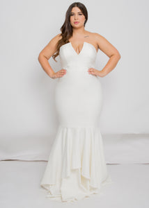 sophie top sansa skirt strapless trumpet wedding dress