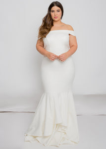 tresley top sansa skirt trumpet wedding dress