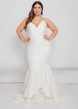 Load image into Gallery viewer, Gorgeous bridal gowns for all body shapes: plus size, curvy, or petite brides. Try on our wedding dresses at home. Size 0-30. Comfortable. Convenient. Fun. Lace or satin. Mermaid or A-line. The bodice will draw your waist in, while it's thin straps will make sure that the top stays in place. There's not much more we could ask for from a top. The layered detailing of this trumpet skirt's hemline will dance right along with you.