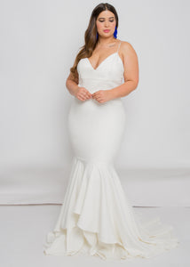 Gorgeous bridal gowns for all body shapes: plus size, curvy, or petite brides. Try on our wedding dresses at home. Size 0-30. Comfortable. Convenient. Fun. Lace or satin. Mermaid or A-line. The bodice will draw your waist in, while it's thin straps will make sure that the top stays in place. There's not much more we could ask for from a top. The layered detailing of this trumpet skirt's hemline will dance right along with you.