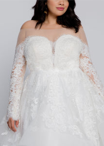 Everly Long Sleeve Top with Everly Ball Gown Skirt