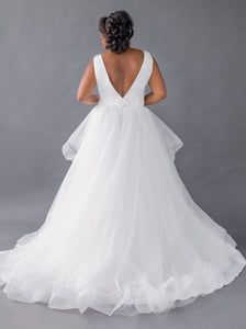 aldin top matson skirt satin v-neck tulle wedding dress