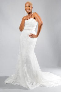 ceres top halley skirt lace flare wedding dress
