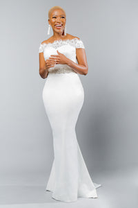 kylar top jayden skirt lace satin crepe wedding dress