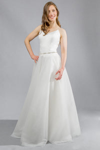 sagrada top aniko skirt crepe tulle wedding dress