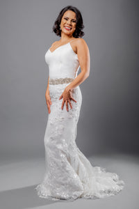 sagrada top kael skirt lace flare wedding dress