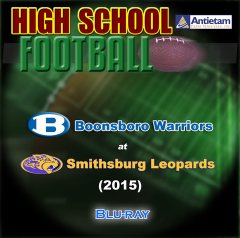 2015 High School Football-Boonsboro at Smithsburg- Blu-ray