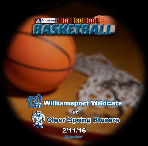 2016 High School Basketball-Williamsport at Clear Spring- Blu-ray (Boys)