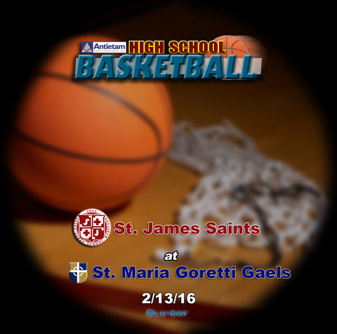 2016 High School Basketball-St. James at St. Maria Goretti Blu-ray (Boys)