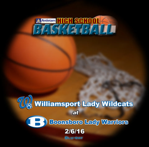 2016 High School Basketball-Williamsport  at Boonsboro- Blu-ray (Girls)