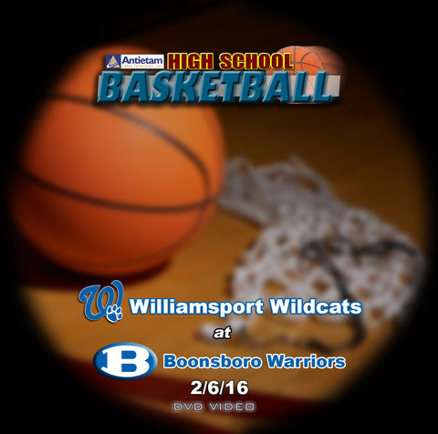 2016 High School Basketball-Williamsport at Boonsboro- Blu-ray (Boys)
