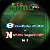 2018 High School Football-Boonsboro at North Hagerstown- Blu-ray