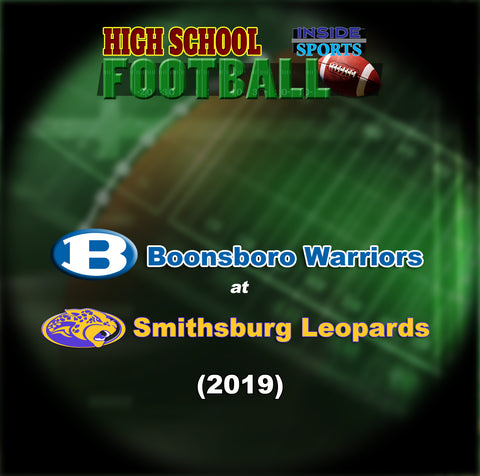 2019 High School Football-Boonsboro at Smithsburg- Blu-ray